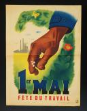 AFFICHE 1er MAI FÊTE DU TRAVAIL, Gouvernement de Vichy.