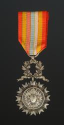 MÉDAILLE DE LA SOCIÉTÉ DE SECOURS MUTUELS FRANÇAISE DES EX-MILITAIRES, Troisième type, créée en 1868, Troisième République.