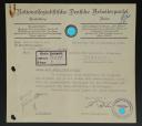 DOCUMENT ADMINISTRATIF DE LA DIRECTION DE LA GAULEITUNG BADEN-ELSAß PARAPHÉ PAR HERMANN RÖHN, Troisième Reich.