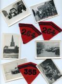 PATTES DE COLLET DE RÉGIMENTS D'ARTILLERIE ET PHOTOGRAPHIES DE LA PÉRIODE DITE DE LA « DRÔLE DE GUERRE », Seconde Guerre Mondiale.