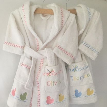 Photo of Personalised Baby Bathrobes