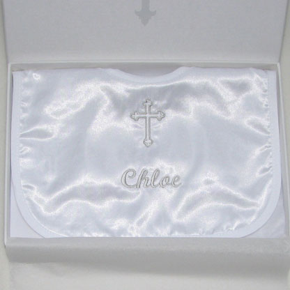 Photo of Christening Bib in a Box