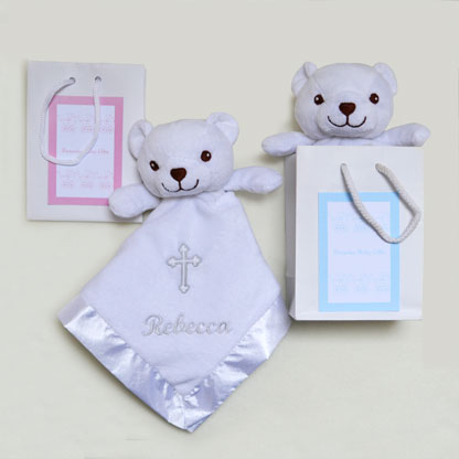Photo of Christening Teddy Comforter