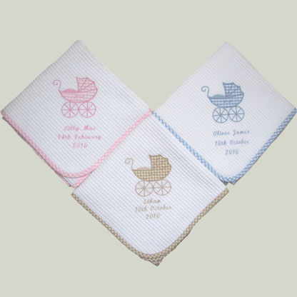 Photo of Personalised Baby Shawl - Name & Date