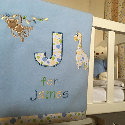 Personalised baby blankets bespoke baby gifts photo of personalised baby blankets negle Gallery