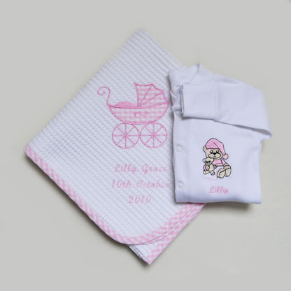 Photo of New Baby Gift Set with Date of Birth
