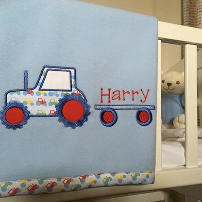Photo of Personalised Baby Blanket.