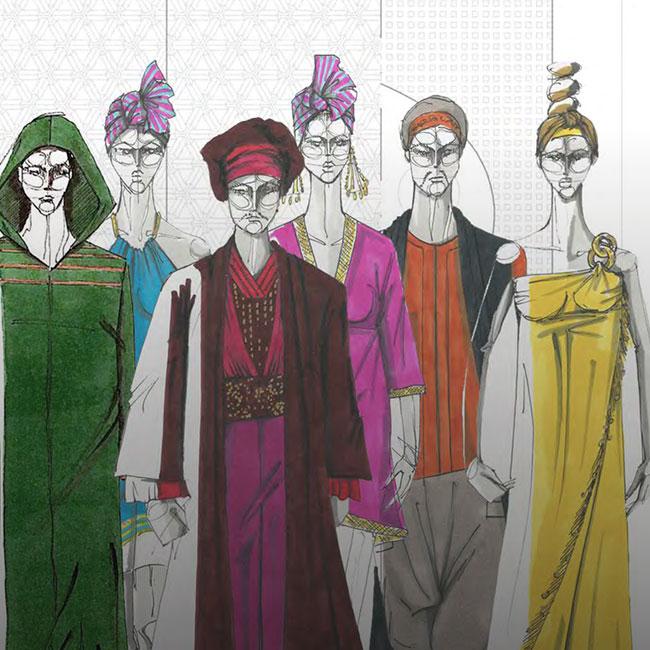 Bocetos Vestuarios Italiana en Argel