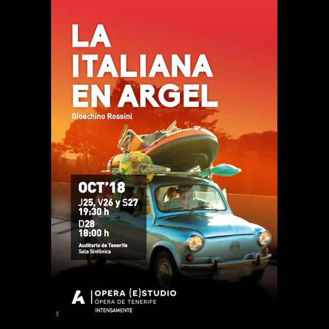 Cartel ópera italiana en argel