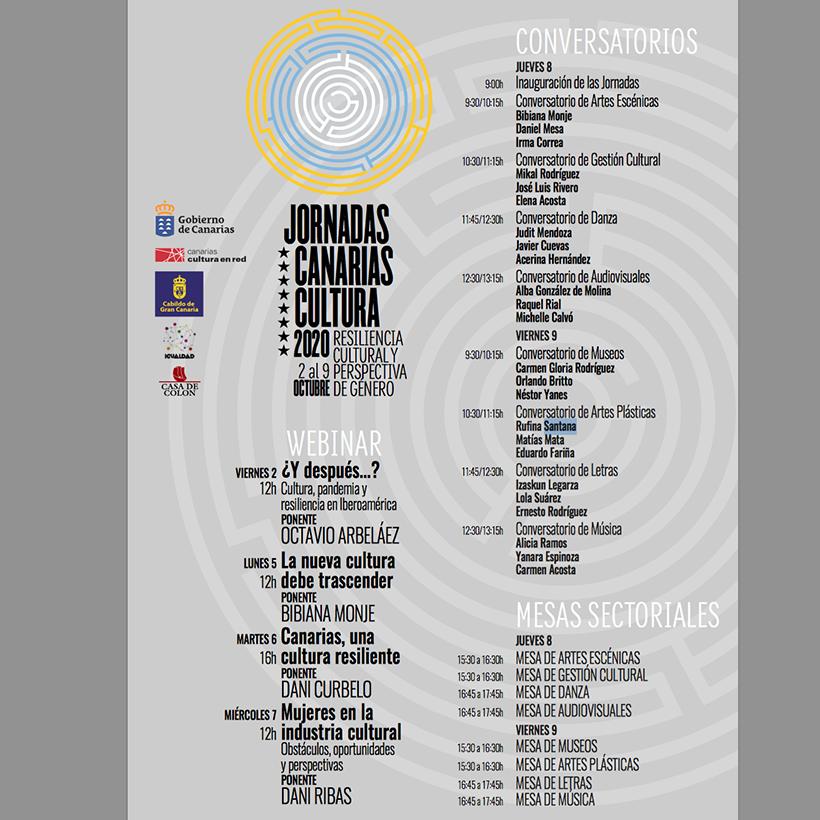 Jornadas Culturales 2020 streaming Webinar