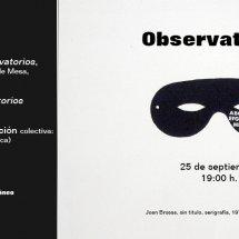 Observatorios presentación poemario Sala Conca