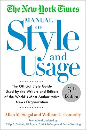 The New York Times Manual of Style and Usage, 2015 Edition - 9781101905449