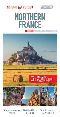Insight Guides: Travel Map Northern France - 9781780055091