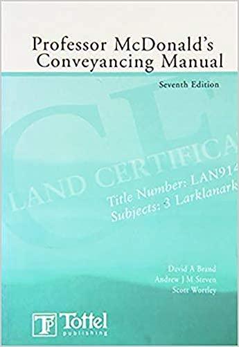 Professor Mcdonald's Conveyancing Manual - 9781845923600
