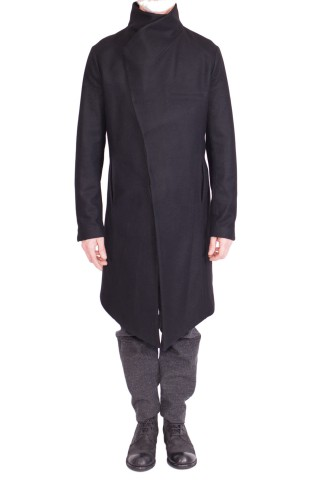 a symmetric coat on the back