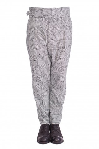 low crotch printed pants