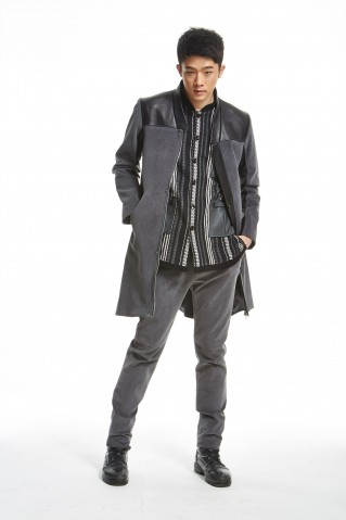 SONO DRS'S Corduroy &Leather Long Coat