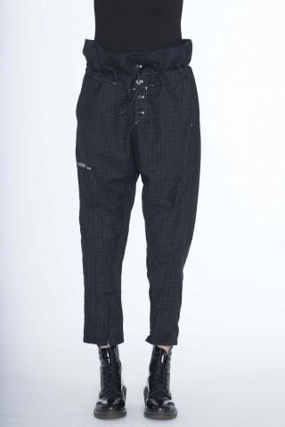 black squares  low crotch pants
