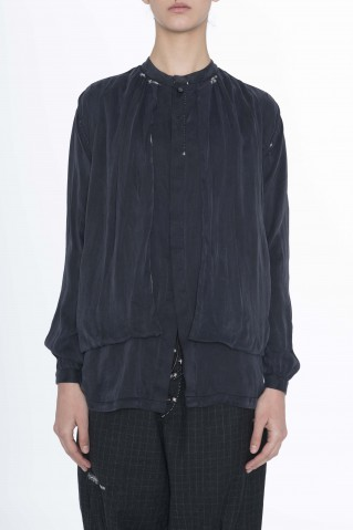 double layer black shirt