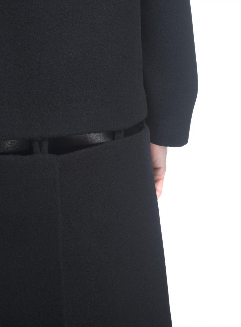 black big collar two parts coat