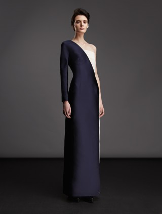 ONE-SHOULDER ASSYMETRIC GOWN DRESS