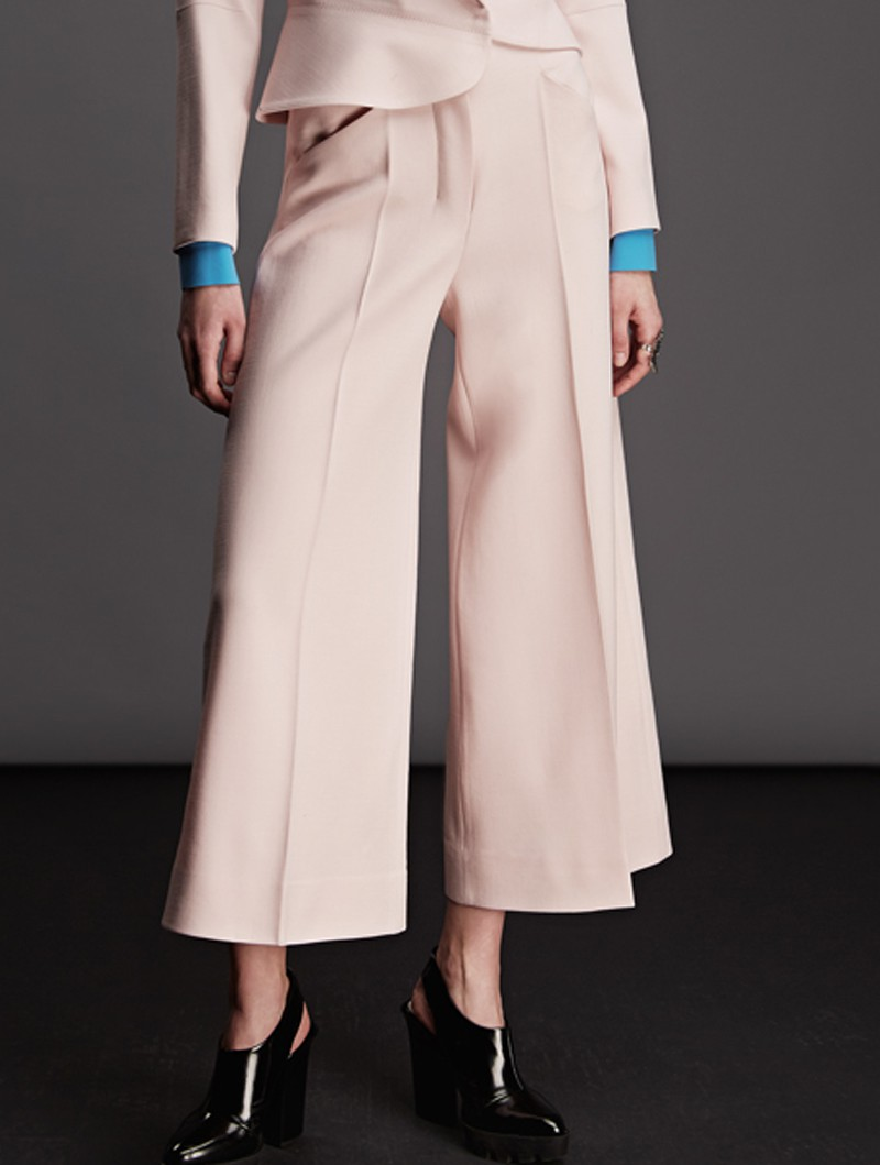 WIDE SHORTEN TROUSERS