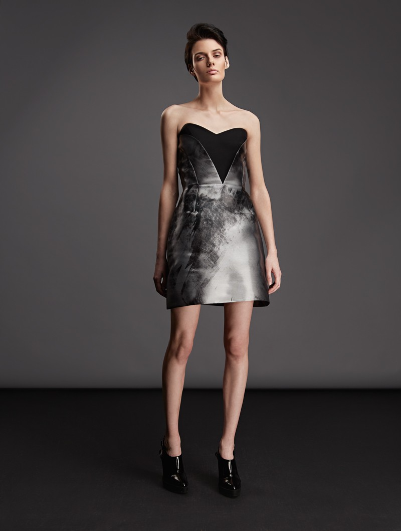 COMBINED BUSTIER DRESS WITH FRONT DETAILS