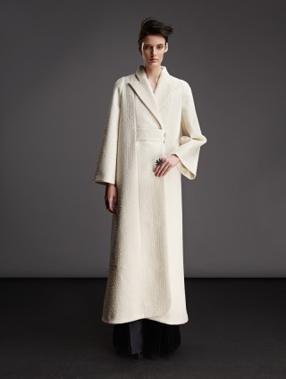 WOOL FLOOR-LENGTH COAT