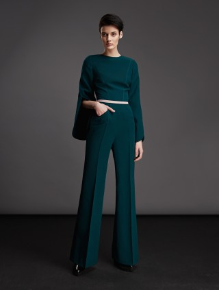 WOOL SHAPE-SLEEVED JUMPSUIT