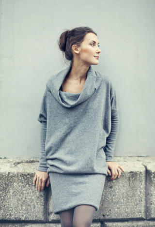LeMuse lab special Designer Cut Grey sweater