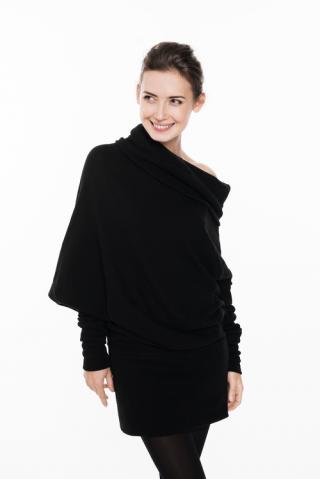 LeMuse Black Asymmetric Muse sweater - dress