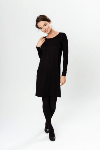 LeMuse Black Sensuality Dress with buttons on the back