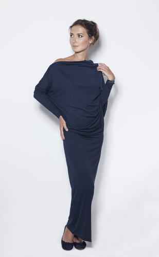 LeMuse Deep blue evening dress