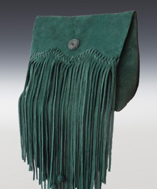 Clutch- Fringe green