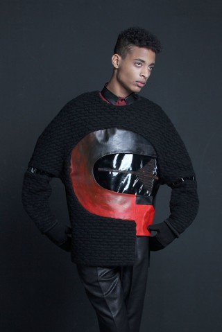 Leather Applicque Jumper