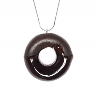 Cocoa Doughnut with Chocolate Glaze (with Sterling Silver Chain)