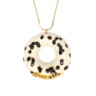 Milky Doughnut with Chocolate Sprinkles and Gold Glaze