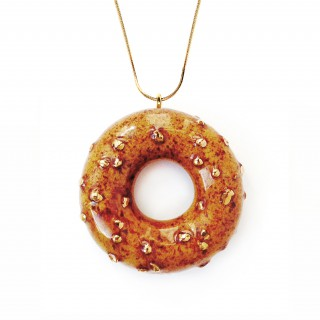 Caramelized Doughnut with Cinnamon and Gold Sprinkles