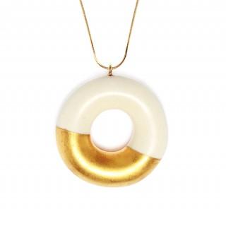 Milky Doughnut with Gold Glaze