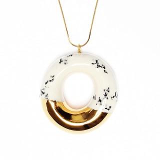Milky Doughnut with Poppy Seeds and Gold Glaze