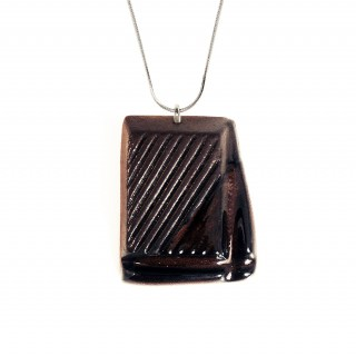 Slightly Melted Dark Chocolate (with Sterling Silver Chain)