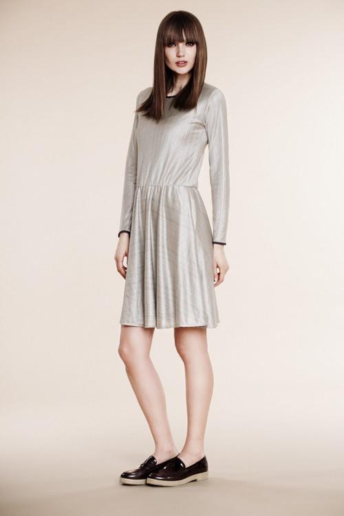 Variegated silk dress