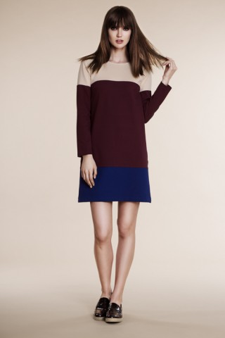 Three color block dress