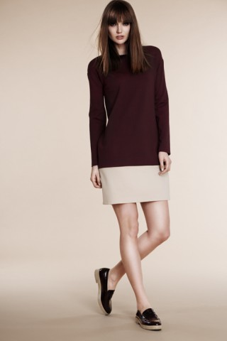 Two color block dress
