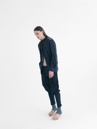 dark wool trousers