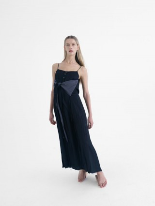 black cotton viscose dress