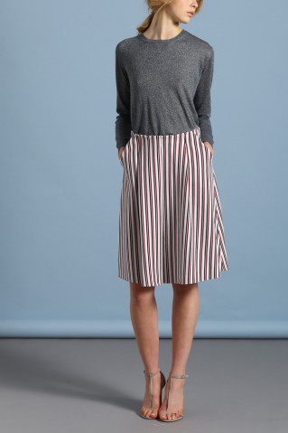 pocket skirt striped honey comb