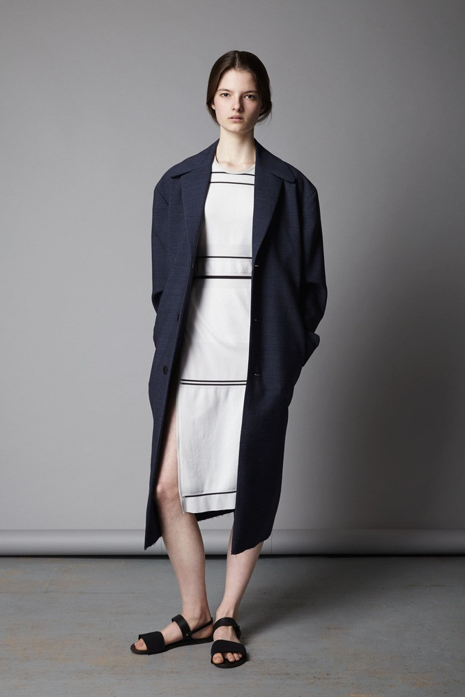 collar rib artisanal sleeveless tunic