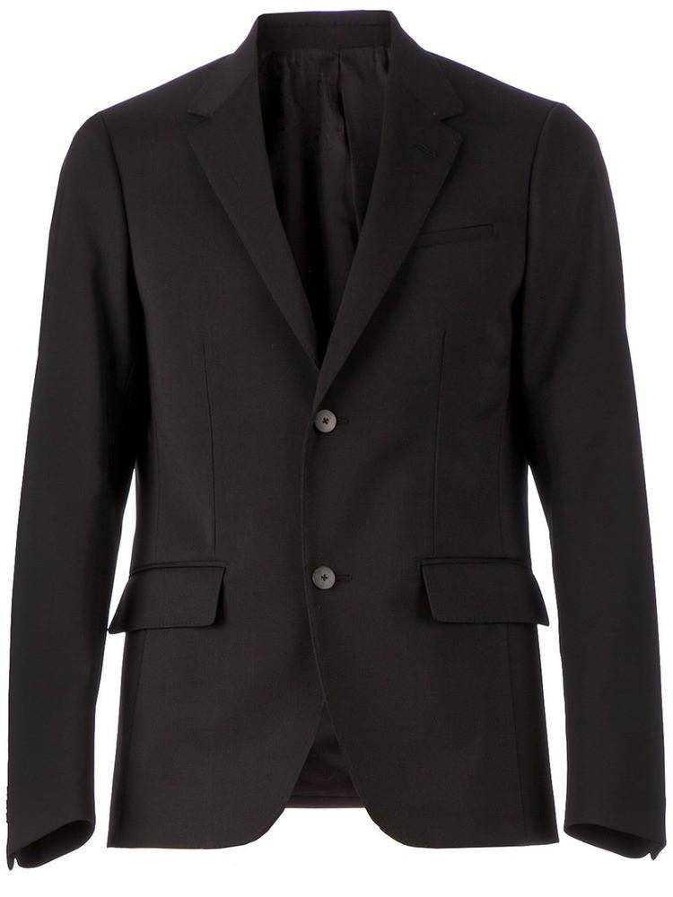 two button blazer BLACK