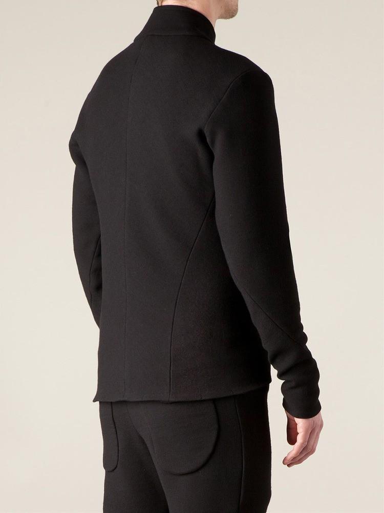 zipped cardigan